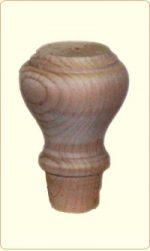 Tulip Shaped Wood Bunn Furniture Foot
