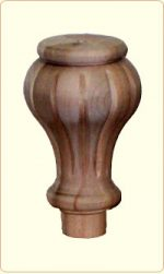 Large Tulip Flute Wood Bunn Furniture Foot