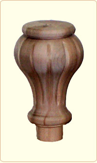 Large Tulip Flute Wood Bunn Furniture Foot