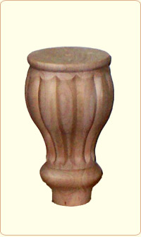 Small Tulip Flute Wood Bunn Furniture Feet
