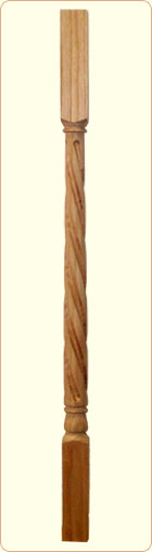 Colonial Twist Block Top Baluster