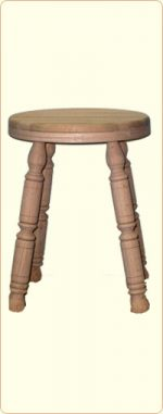 18 Inch Unfinished Oak Stool