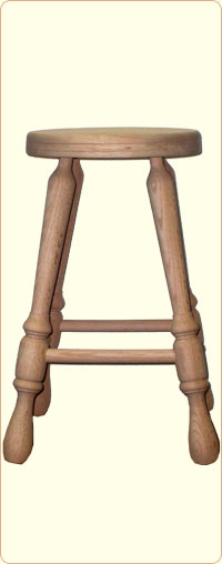 24 Inch Unfinished Oak Bar Stool