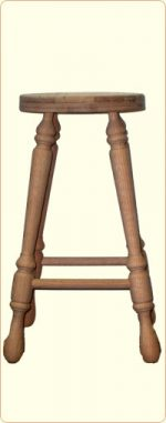 27 Inch Unfinished Oak Bar Stool