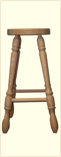 30 Inch Unfinished Oak Bar Stool